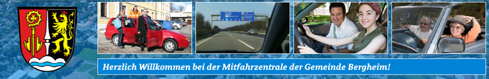 Carpooling-Service in and around Bergheim